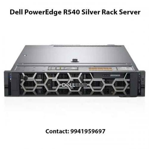 Dell PowerEdge R540 Silver Rack Server price in hyderabad, chennai, telangana, kerala, bangalore, india
