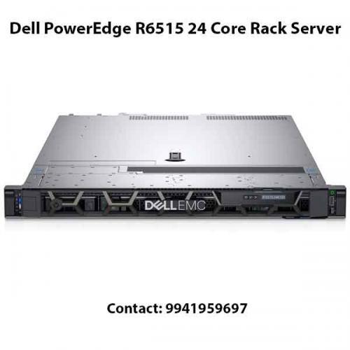 Dell PowerEdge R6515 24 Core Rack Server price in hyderabad, chennai, telangana, kerala, bangalore, india