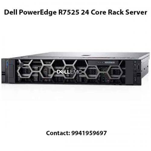Dell PowerEdge R7525 24 Core Rack Server price in hyderabad, chennai, telangana, kerala, bangalore, india