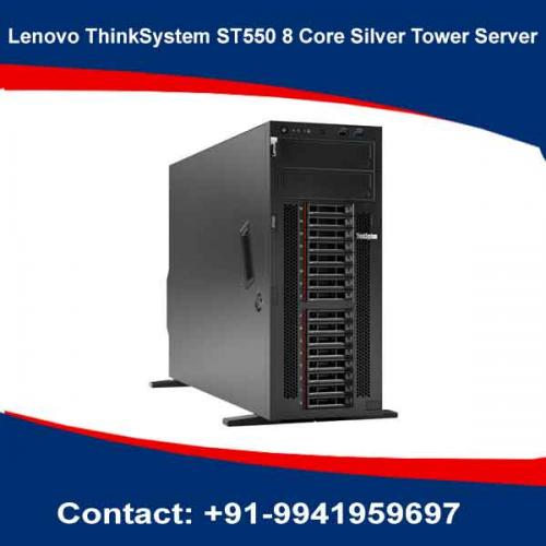 Lenovo ThinkSystem ST550 8 Core Silver Tower Server price in hyderabad, chennai, telangana, kerala, bangalore, india