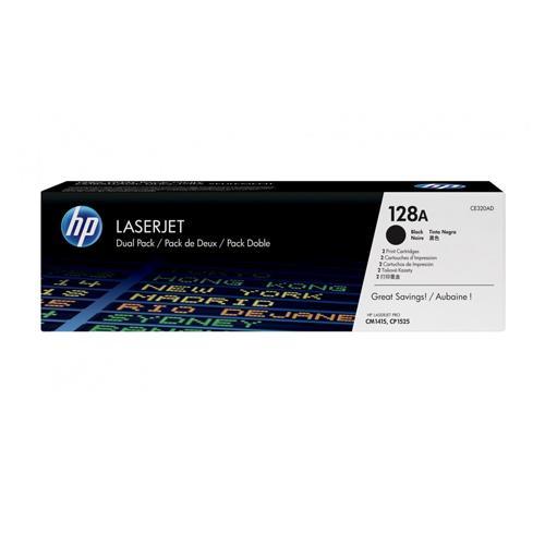 HP 128A CE320AD Twin Pack Black LaserJet Toner Cartridge price