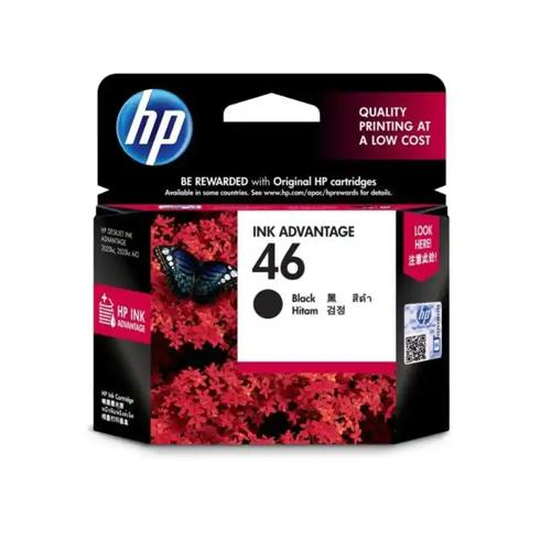 HP 46 CZ637AA Black Original Ink Cartridge price in hyderabad, chennai, tamilnadu, india