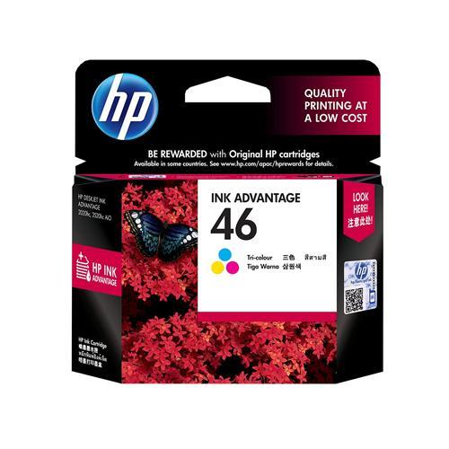 HP 46 CZ638AA Tri color Ink Advantage Cartridge price in hyderabad, chennai, tamilnadu, india