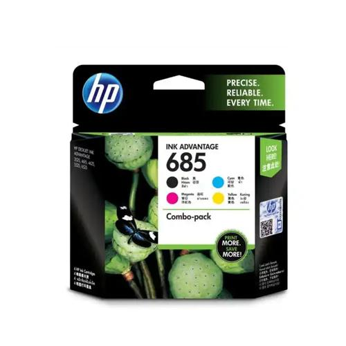 HP 685 F6V35AA CMYK Ink Cartridges Combo 4 Pack price in hyderabad, chennai, tamilnadu, india