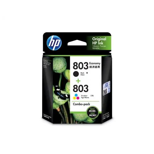 HP 803 3YP93AA Black Tri Colour Combo Pack Ink Cartridge price in hyderabad, chennai, tamilnadu, india