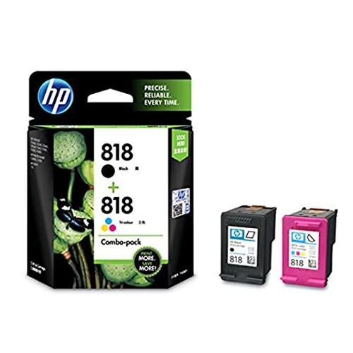 HP 818 CN068AA Combo Black Tri color Ink Cartridge price in hyderabad, chennai, tamilnadu, india
